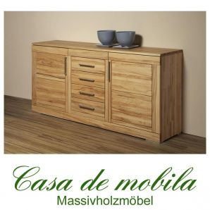 Massivholz Sideboard Kernbuche massiv natur geölt CASERA - Anrichte