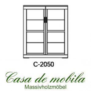 Massivholz Schrank 2-türig Buche massiv natur geölt CASERA - Kernbuche / Rotkernbuche