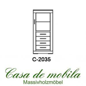 Massivholz Schrank mit Schubladen Buche massiv natur geölt CASERA - Kernbuche / Rotkernbuche