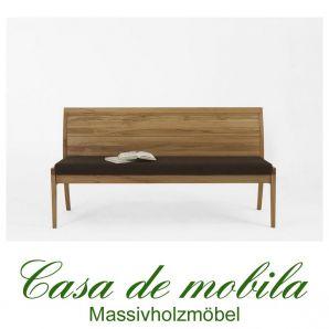 bank mit r ckenlehne bank 170 cm kernbuche massiv natur. Black Bedroom Furniture Sets. Home Design Ideas