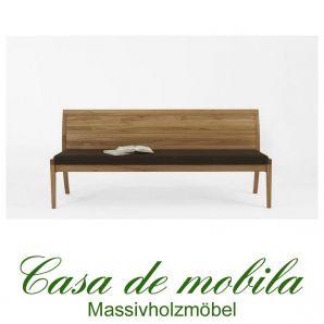 sitzbank mit r ckenlehne bank 210 cm kernbuche massiv. Black Bedroom Furniture Sets. Home Design Ideas