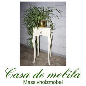 Massivholz Beistelltisch Blumentisch Telefontisch cremeweiss lackiert Pappel massiv