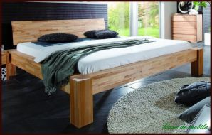 echtholz bett 140x200 kopfteil ohne rillen kernbuche massiv ge lt. Black Bedroom Furniture Sets. Home Design Ideas