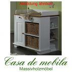 Massivholz Wickelkommode Weiss II Kiefer massiv Wickeltisch JULIA - weiß / honig lackiert