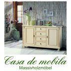 Massivholz Sideboard Shabby Chic Fichte massiv ALINA - antik od. natur gewachst / weiß gewischt od. lackiert