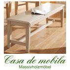Massivholz Sitzbank Holzbank cremeweiß antik Fichte massiv LARA - 160 cm