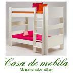 Etagenbett weiß lackiert 90x200 For Kids - MDF