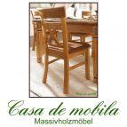 Esszimmer Stühle Stuhl-Set mit Polster goldbraun holz Kiefer GÖTEBORG