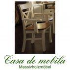 Massivholz Armlehnstuhl Armlehnsessel Stühle mit armlehne Armlehnenstuhl  Kiefer massiv PARIS Vintage, champagner goldbraun gebeizt/lackiert