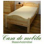 Massivholz Bett Überlänge Kiefer massiv natur lackiert Kinderbett kiefernbett ROJA  90x220