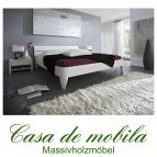 Massivholz Doppelbett 160x200 XL Futonbett Holzbett Kiefer massiv weiß lackiert