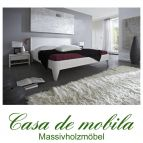 Massivholz Einzelbett 100x200 Holzbett Bett Kiefer massiv weiß lackiert