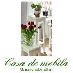 Massivholz Blumentisch Blumenständer Blumenhocker 80 Kiefer massiv cremeweiß Landhausstil PARIS - Blumenständer Vintage, champagner gebeizt/lackiert
