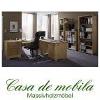 Massivholz Büromöbel Set Büroeinrichtung Kiefer massiv GULDBORG 7-teilig mit Eckschreibtisch