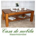 Massivholz Couchtisch Kiefer massiv honig lackiert Wohnzimmertisch GULDBORG 120x74