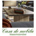 Massivholz Couchtisch Holz Wildeiche massiv natur geölt BINZ 120x80cm Eiche