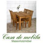 Massivholz Esstisch Tisch 110x70 Wildeiche massiv geölt - Eiche Küchentisch DIEZ