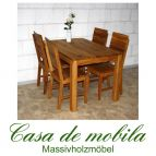 Massivholz Esstisch Tisch 120x80 Wildeiche massiv geölt - Eiche Küchentisch DIEZ