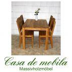 Massivholz Esstisch Tisch 140x90 Wildeiche massiv geölt - Eiche Küchentisch DIEZ