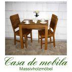 Massivholz Esstisch 80x60 Wildeiche massiv geölt - Eiche Küchentisch DIEZ