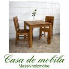 Massivholz Esstisch Tisch 80x80 Wildeiche massiv geölt - Eiche Küchentisch DIEZ