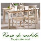 Tisch landhausstil weiß Küchentisch lackiert 120x78 Fjord - Holz Kiefer massiv
