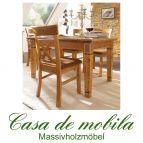 Massivholz Esstisch Kiefer massiv honig Küchentisch GÖTEBORG Tisch 140x95, goldbraun patiniert