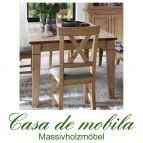 Massivholz Esstisch 140x90 Kiefer massiv gelaugt geölt - Tisch WINDSOR