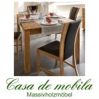 Massivholz Esstisch Esszimmertisch 160x90 Wildeiche massiv natur geölt GECS V3.1