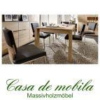 Massivholz Esszimmer-Garnitur Asteiche massiv gebürstet bianco geölt - Speisezimmer 7-teilig ACERRO