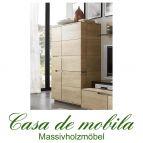 Massivholz Highboard rustikale Asteiche massiv bianco gebürstet geölt - ACERRO