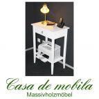 Konsolentisch Telefontisch Wandtisch  weiß lackiert Decor - Pappel massiv
