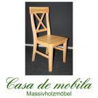Massivholz Stuhl Kiefer massiv natur lackiert ALENA - Holzstuhl Küchenstuhl Esszimmerstuhl