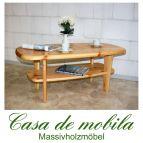 Massivholz Couchtisch Kiefer massiv natur lackiert Kieferncouchtisch No. 452 - 116x61