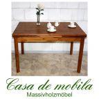 Massivholz Esstisch ausziehbar Kiefer massiv provance / honig lackiert TAURENE - 120x80 Esszimmertisch Ausziehtisch Tisch