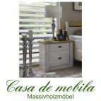 Massivholz Nachtkommode weiß gelaugt geölt Kiefer massiv 2-farbig EVA Nachtschrank Nachttisch