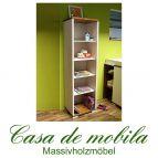 Massivholz Standregal Kiefer massiv 2-farbig Regal GULDBORG Bücherregal weiß honig