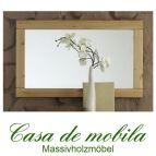 Massivholz Wandspiegel Spiegel Kiefer massiv gelaugt geölt RAUNA - 100x60