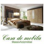 Massivholz Schlafzimmer komplett Kiefer massiv gelaugt geölt  Landhaus mit Bett 180x200 RAUNA