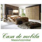 Massivholz Schlafzimmer komplett holz kiefer massiv gelaugt geölt Bett 180x200,Rauna