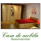 Massivholz Schlafzimmer set Kiefer massiv gelaugt geölt RAUNA komplett mit Bett 140x200