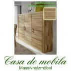 Massivholz Highboard IIa Jale Schrank Wildeiche massiv geölt