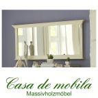 Massivholz Wandspiegel 155x70 Kiefer massiv weiß Landhausstil PARIS  Vintage, champagner gebeizt/lackiert