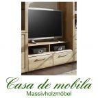 Massivholz TV-Lowboard Wildeiche massiv natur geölt OXFORD klein