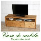 Massivholz TV-Lowboard TV Kommode antik gewachst - Tirol Kiefer massiv Fichte