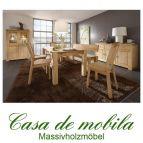 Massivholz Esszimmer Kiefer massiv gelaugt geölt naturholz Esszimmermöbel Set 8-teilig GULDBORG