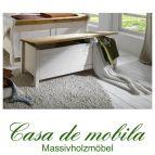 Massivholz Wäschetruhe weiß gelaugt geölt Kiefer massiv 2-farbig EVA