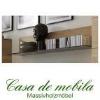 Massivholz Wandboard 120 rustikale Asteiche massiv gebürstet bianco geölt - Wandregal ACERRO