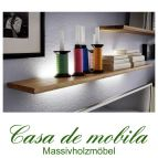 Massivholz Wandboard 125 Holz Wildeiche massiv geölt NORDIC HOME mit Beleuchtung