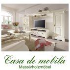 Massivholz Wohnzimmer komplett Kiefer massiv weiss Anbauwand Landhausstil  Wohnzimmerschrank PARIS - Vintage, champagner gebeizt/lackiert